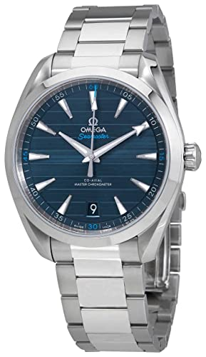 Omega Seamaster Aqua Terra 41 mm esfera azul reloj para hombre 220.10.41.21.03.001: Amazon.es: Relojes