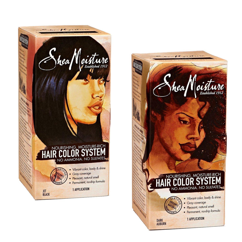 Amazon Shea Moisture Hair Color System 2 Pack Jet Black