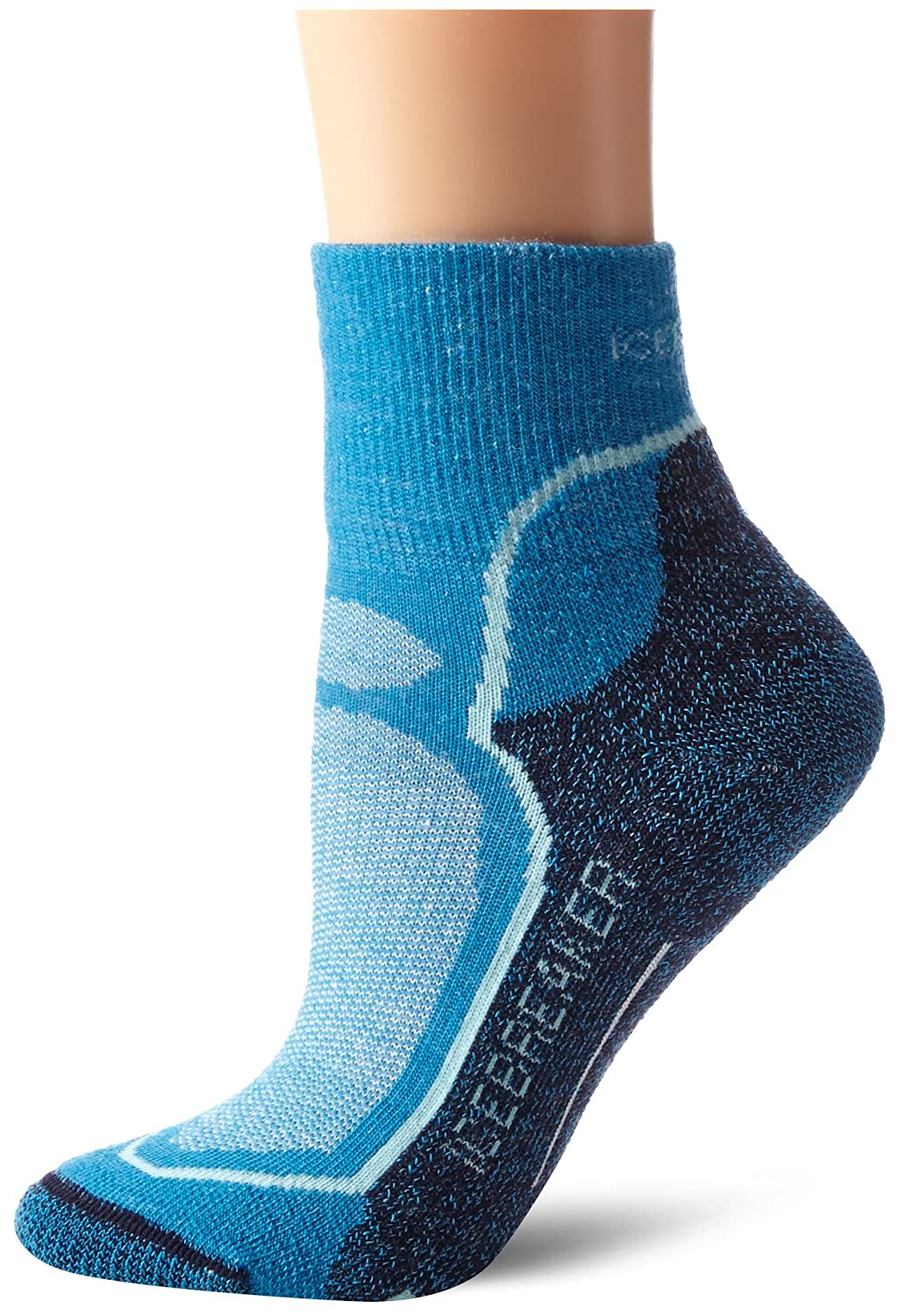 Icebreaker Women's Hike Pus ite Mini Socks, Cruise/Teardrop/Admira, arge