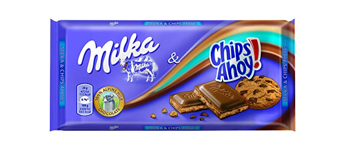 Milka - Tableta De Chocolate Chips Ahoy! - 100 g