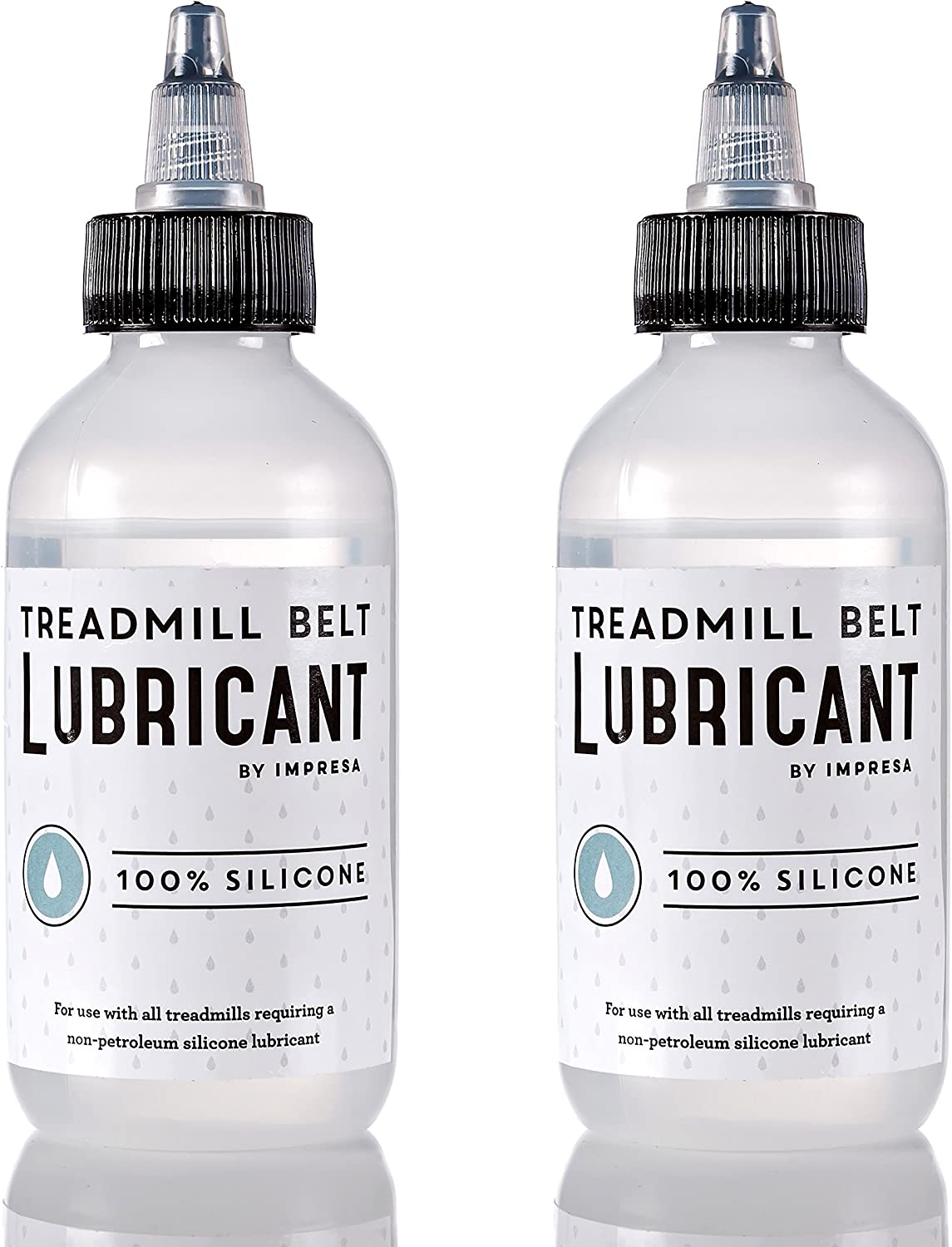 2 Pack of 100% Silicone Treadmill Belt Lubricant/Lube - Easy to Apply Lubrication - Made in The USA