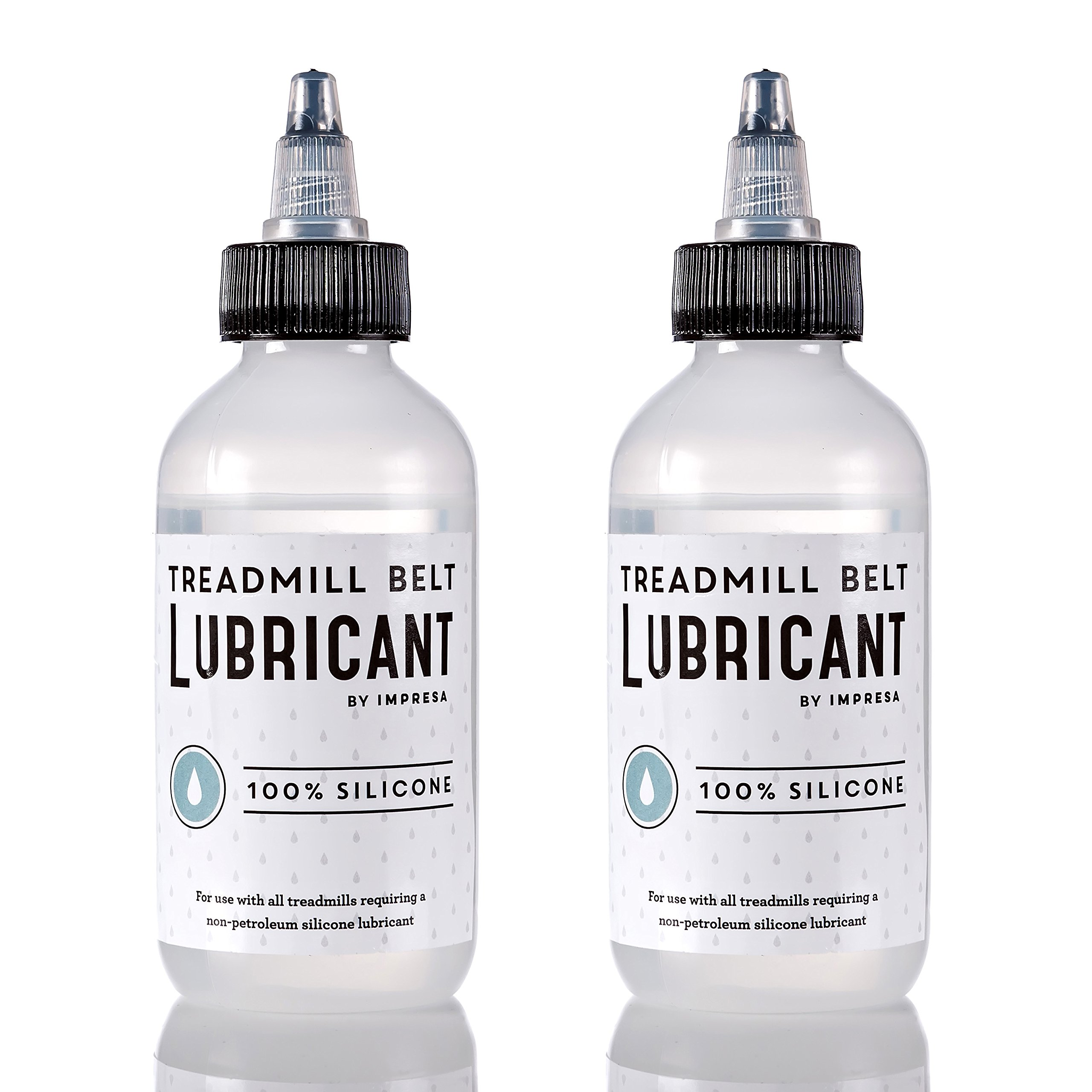 2 Pack of Silicone Treadmill Belt Lubricant / Lube – Easy to Apply Lubrication – Made in the USA