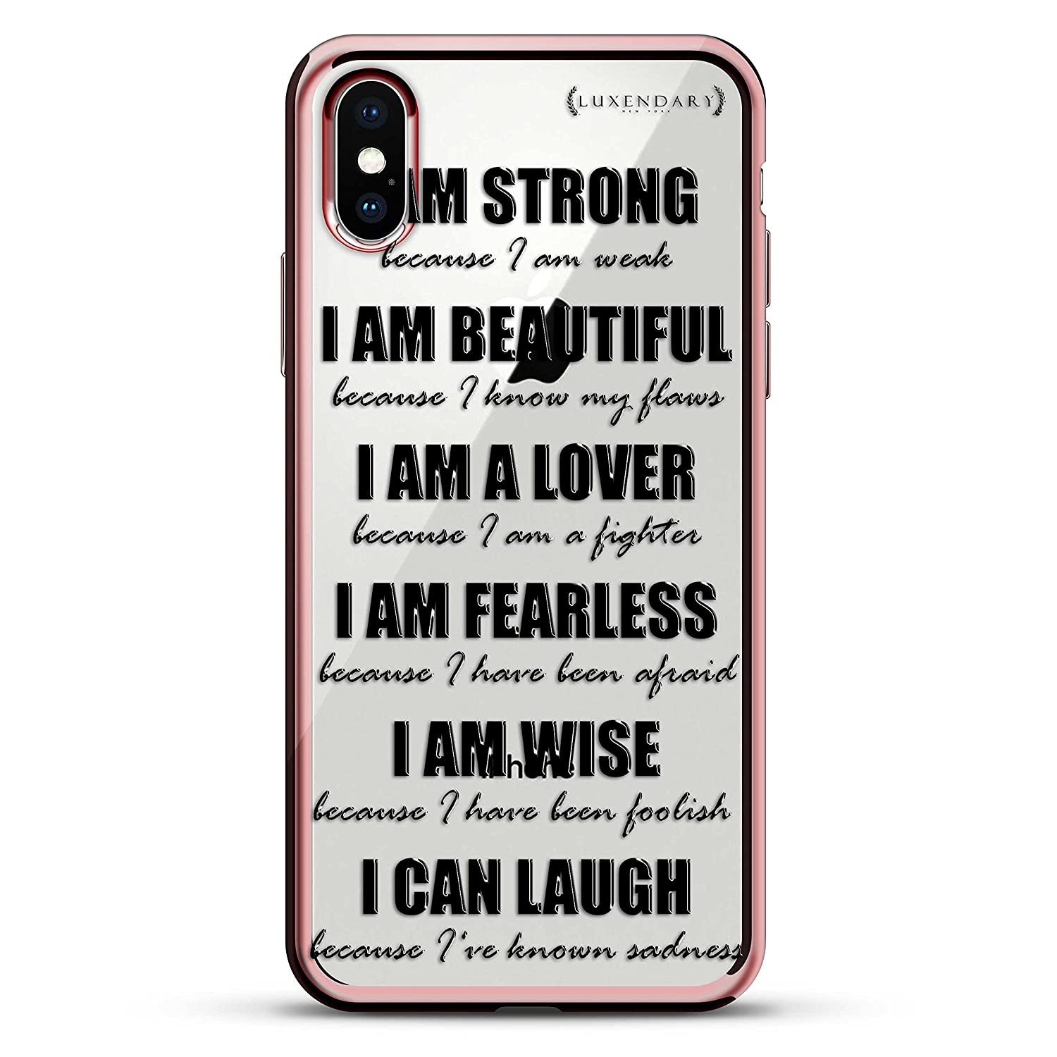 Amazon I Am Strong Quote Luxendary Chrome Series Designer