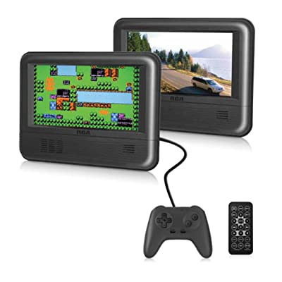"RCA Dual Screen Portable DVD Player & Game Pad System - Set of Two 7"" Screens, (6-Piece Kit) - (DRC62705E24G)"
