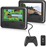 """RCA Dual Screen Portable DVD Player & Game Pad System - Set of Two 7"""" Screens, (6-Piece Kit) - (DRC62705E24G)"""