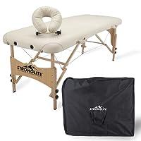 STRONGLITE Massageliege Shasta - Mobiler, Tragbarer Massagetisch inkl. Tasche, Verstellbarer Kopfstütze, Gesichtskissen (70x185cm)