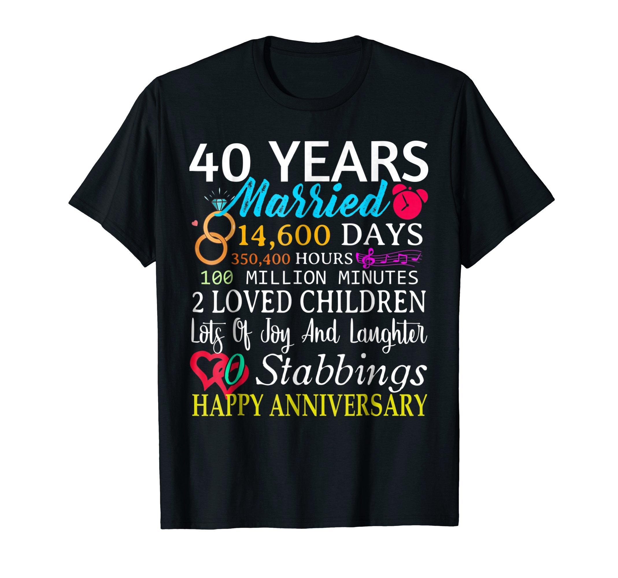 40th Wedding Anniversary Gift 40 Year Anniversary T Shirt