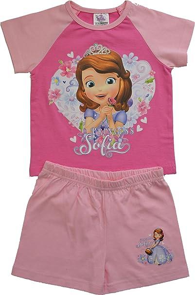 d625fd093 Ropa de descanso para niñas de las princesas Disney Sofia The First a  partir de pantalón corto pijama 18 meses permiten el paso de la 5 años:  Amazon.es: ...