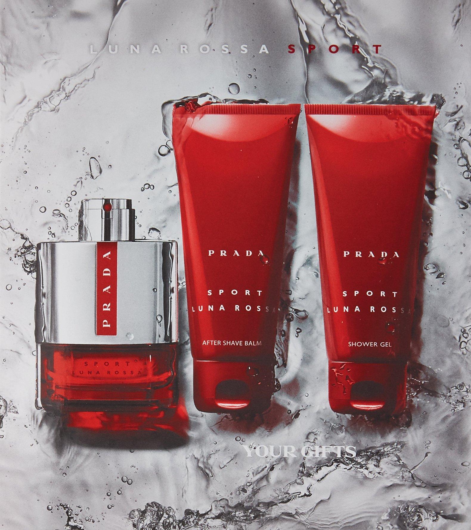 Prada Luna Rossa Sport for Men 3 PC (3.4 Eau De Toilette / 3.4 shower gel / 3.4 after shave balm) by Prada (Image #3)