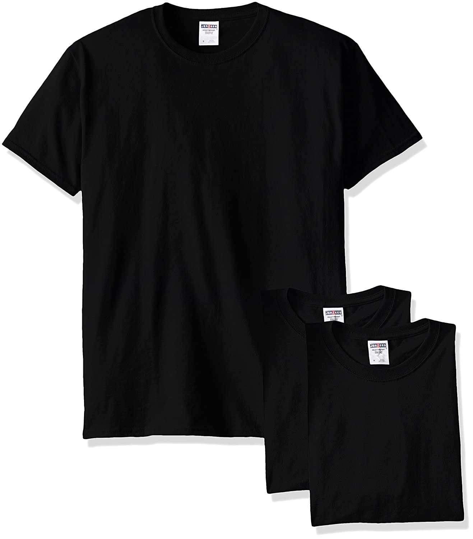 Jerzees メンズ 大人用 半袖Tシャツ(3枚組) B00T7U95FA M|ブラック ブラック M