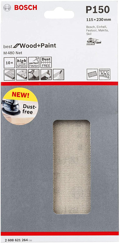 Bosch 2608621175 Feuille abrasive M480 150mm 180 50 pcs Beige