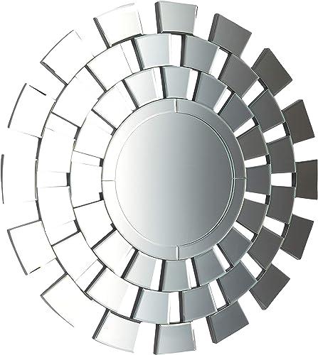 Christopher Knight Home 305225 Ethan Glam Circular Wall Mirror