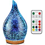 Porseme 280ml Essential Oil Diffuser, Aroma Ultrasonic Humidifier with Remote Control, BPA Free, Auto Shut-Off, Timer Setting