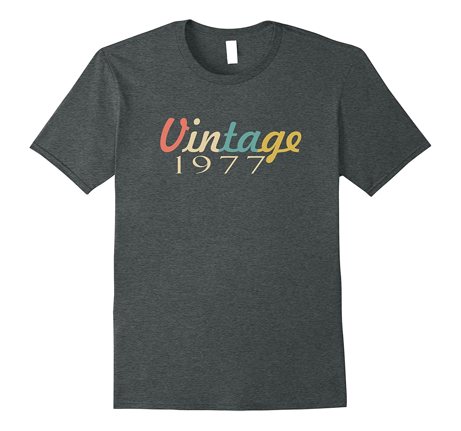 40th Birthday 1977 Vintage Year Gift T-Shirt-T-Shirt