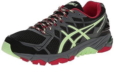 ASICS Women's Gel-Fujitrabuco 4 Neutral Running Shoe, Black/Pistachio/Wild  Raspberry
