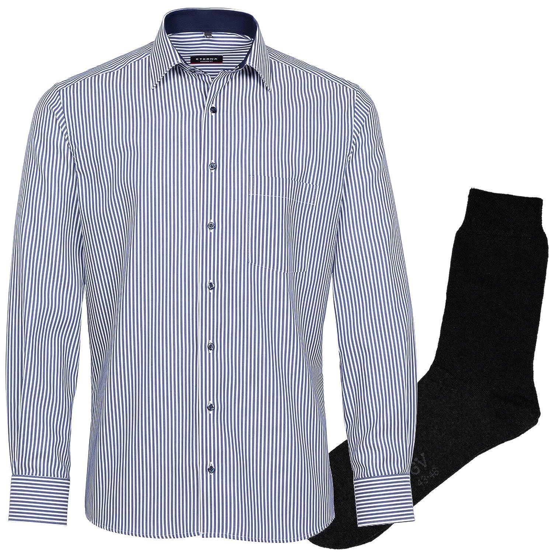 1 Paar hochwertige Socken dunkelblau ETERNA Herrenhemd Slim