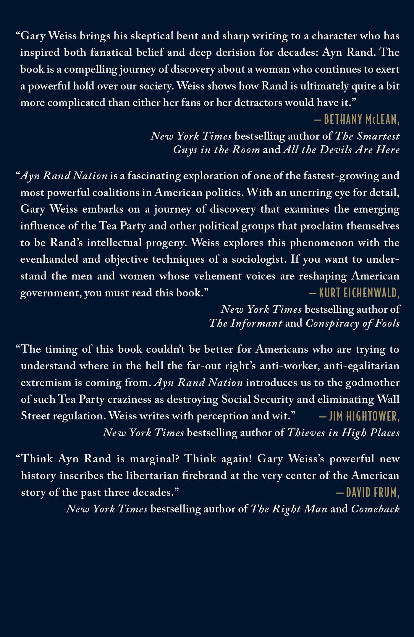 Ayn Rand Nation: The Hidden Struggle for America\'s Soul: Gary ...