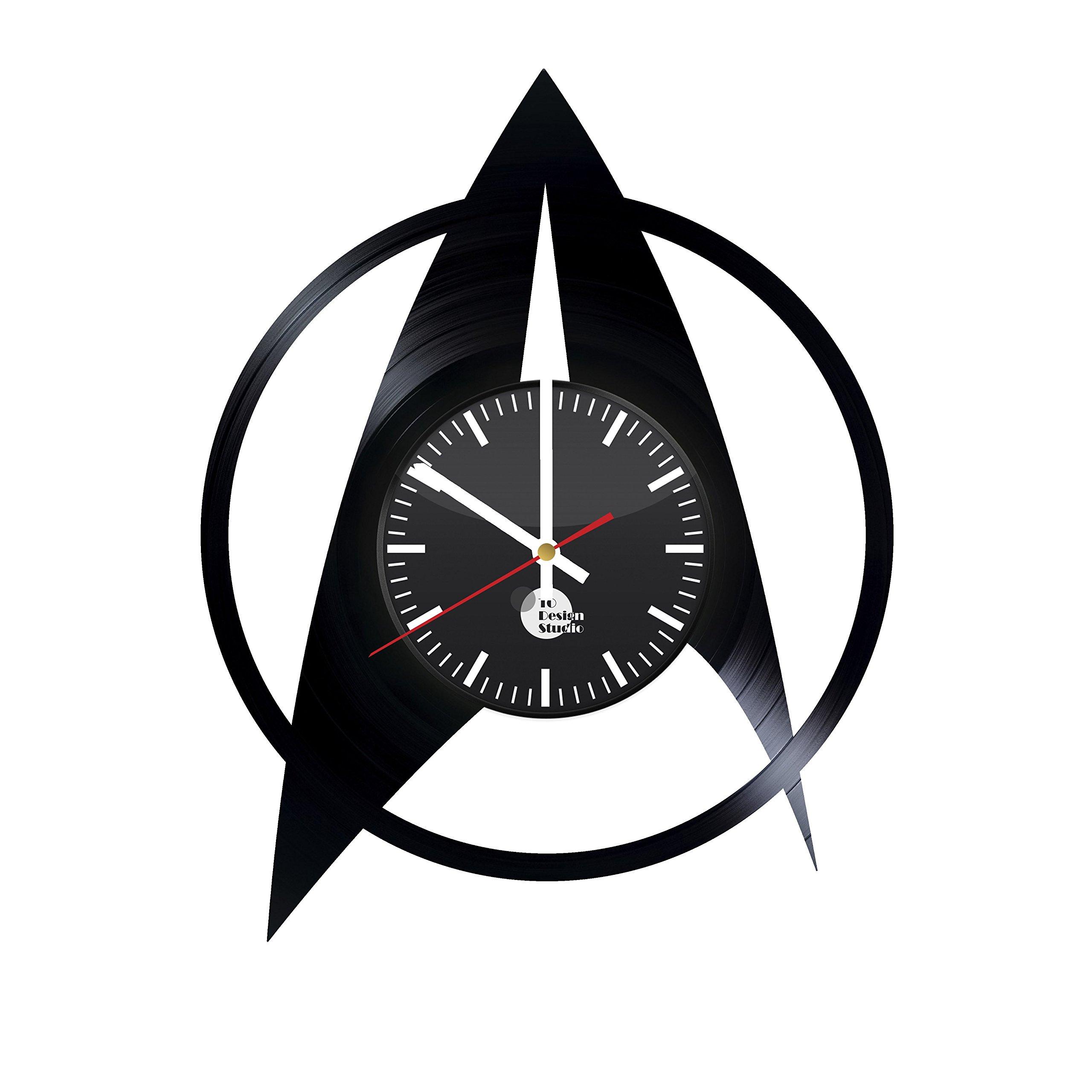 Star Trek Vinyl Record Wall Clock - Get unique garage, kids, bed room wall décor - Gift ideas for men, women, children – Unique movie art design - Leave us a feedback and win your custom clock.