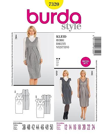 Burda 7320 patrón de vestido premamá, para ropa.38-50