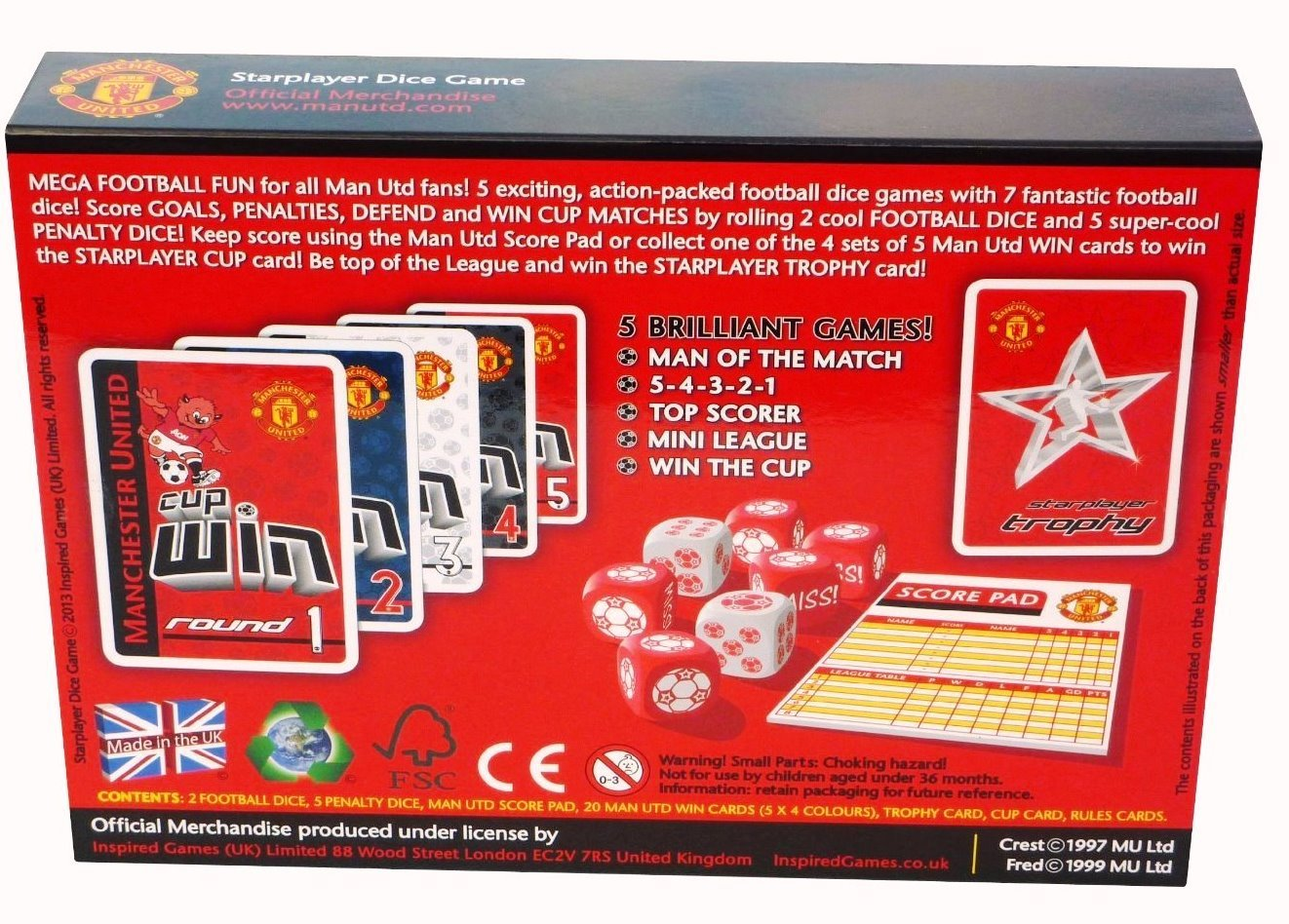 Starplayer Manchester United Dice Game Toys Games The Objective Of Circuit Is To Build An Electronic Based On