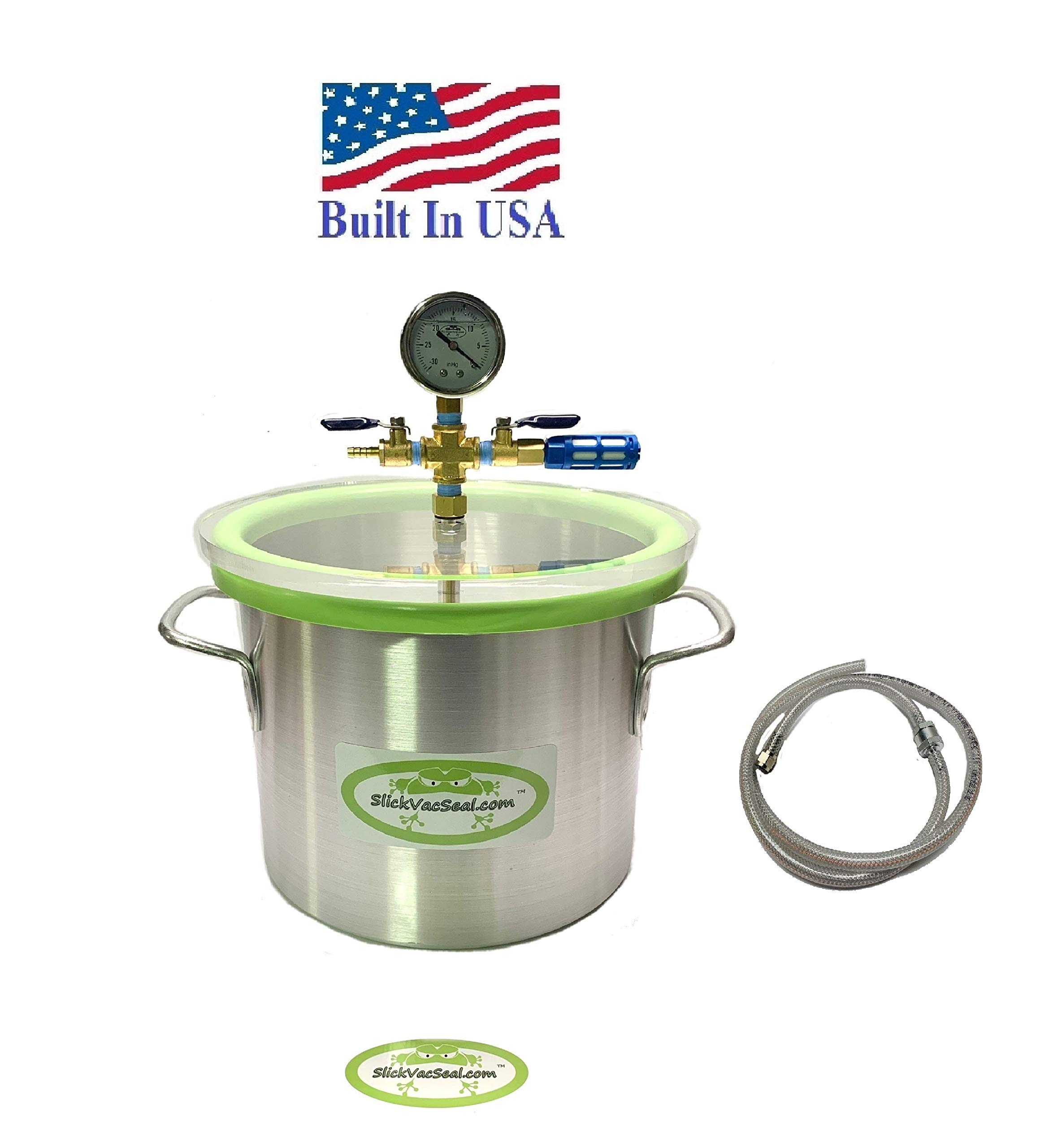 3 Gallon Aluminum Vacuum Chamber Used for Degassing Resins, Silicone and Epoxies.