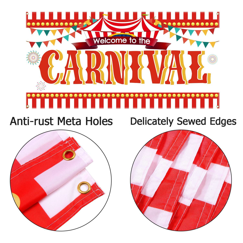 Aneco Cartel de circo de carnaval, decoración de carnaval, fiesta ...