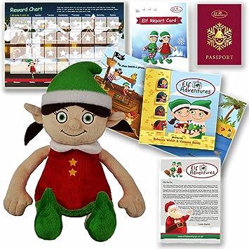 elf adventures girl elf soft toy toddler set story book letter