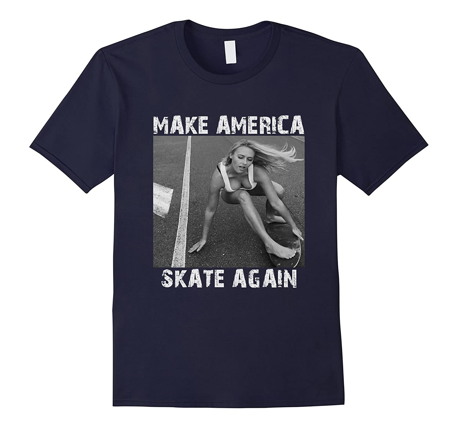Make America Skate Again Mens t shirts-RT