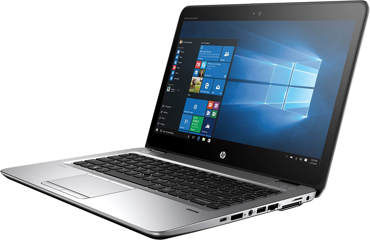 "HP Elitebook 840 G3 Notebook - V1H23UT#ABA (14"" FHD Display, i5-6300U 2.4GHz, 8GB RAM, HD Webcam, Windows 7/10 Pro 64)"