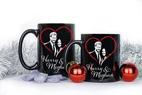 Amazon.com: Harry And Meghan Mug Prince Harry Meghan Markle Commemorative Coffee Mugs Harry Meghan Engagement: Kitchen & Dining