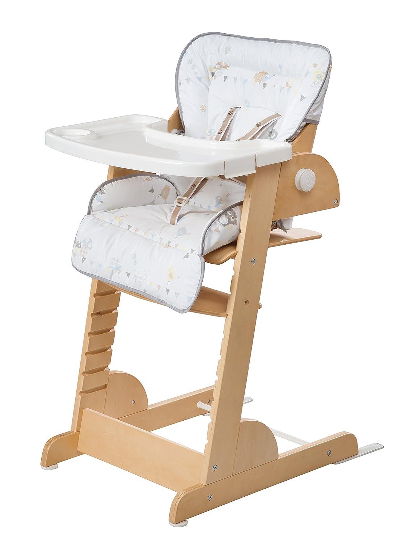 Roba-Kids 275067NLF183 Trona evolutiva reclinable en madera con reductor de asiento.