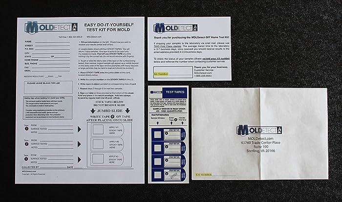 MOLDetect - 3 Sample Mold Test Kit W/ AIHA Accredited Lab Analysis