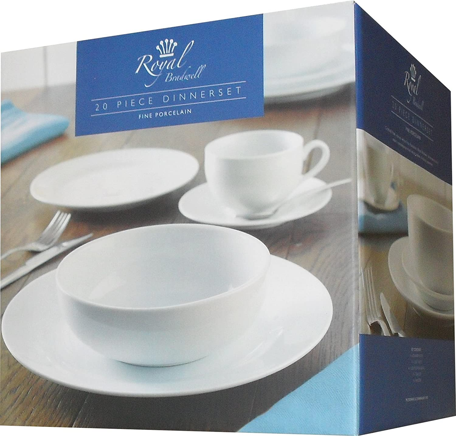 Rayware 20-Piece Royal Bradwell Dinner Service White Amazon.co.uk Kitchen u0026 Home & Rayware 20-Piece Royal Bradwell Dinner Service White: Amazon.co.uk ...