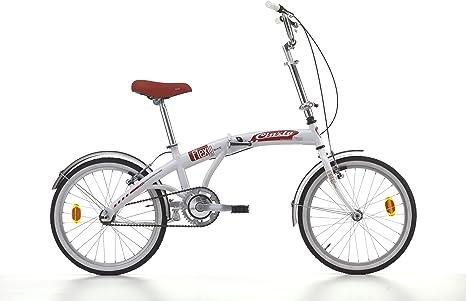 Bicicleta plegable flexy-bike de acero 20 pulgadas blanco/rojo ...
