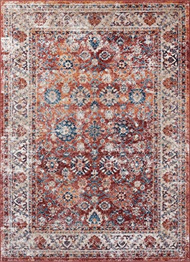 Luxe Weavers Rust Oriental 5×7 Area Rug 7159