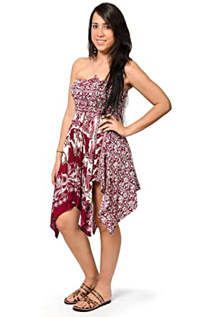 b796b0b3804 Image Unavailable. Image not available for. Color  TCG Women s Elephant  Print Fairy Dress Skirt - Red