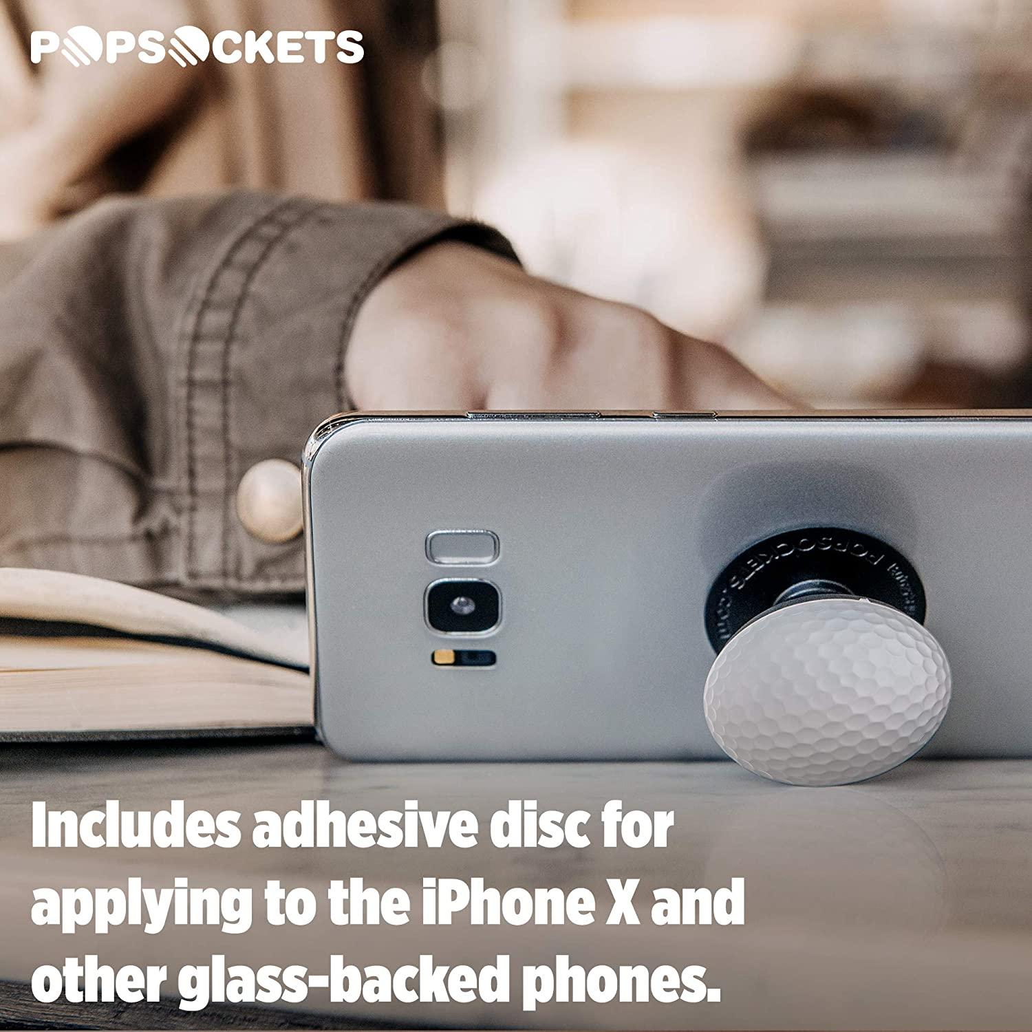 PopSockets Baseball Collapsible Grip /& Stand for Phones and Tablets