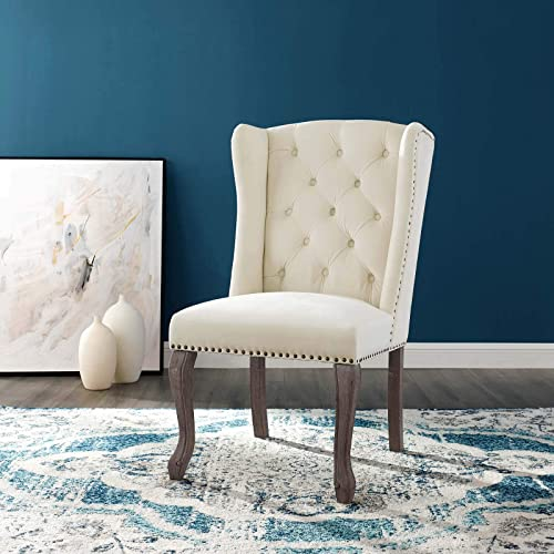 Modway Apprise French Vintage Dining Performance Velvet Side Chair