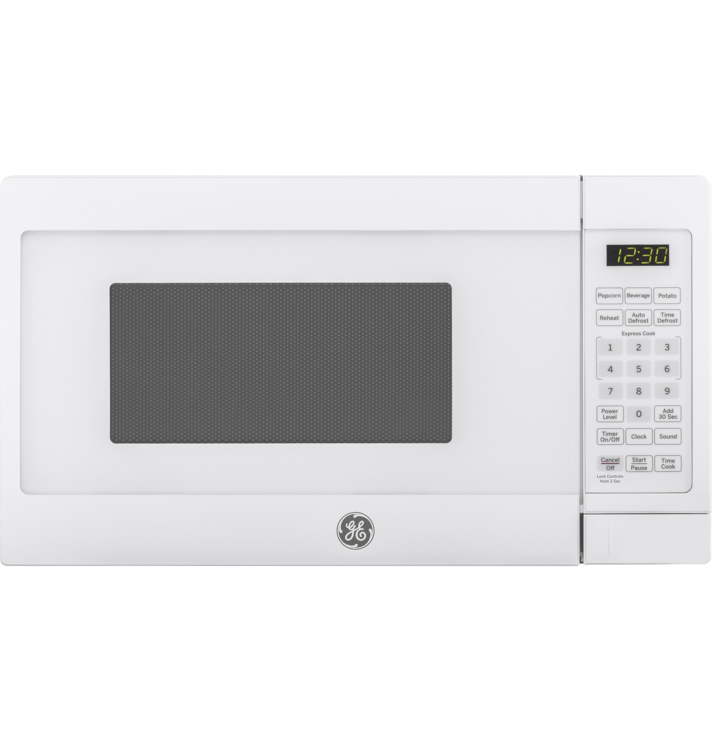 GE JES1072DMWW 0.7 cu. ft. Capacity Countertop Microwave Oven, White