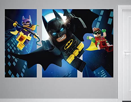 Lego Batman Robin Batgirl 3D Sticker Wall Decal Smashed Vinyl Decor Mural Kids - Broken Wall & Amazon.com: Lego Batman Robin Batgirl 3D Sticker Wall Decal Smashed ...