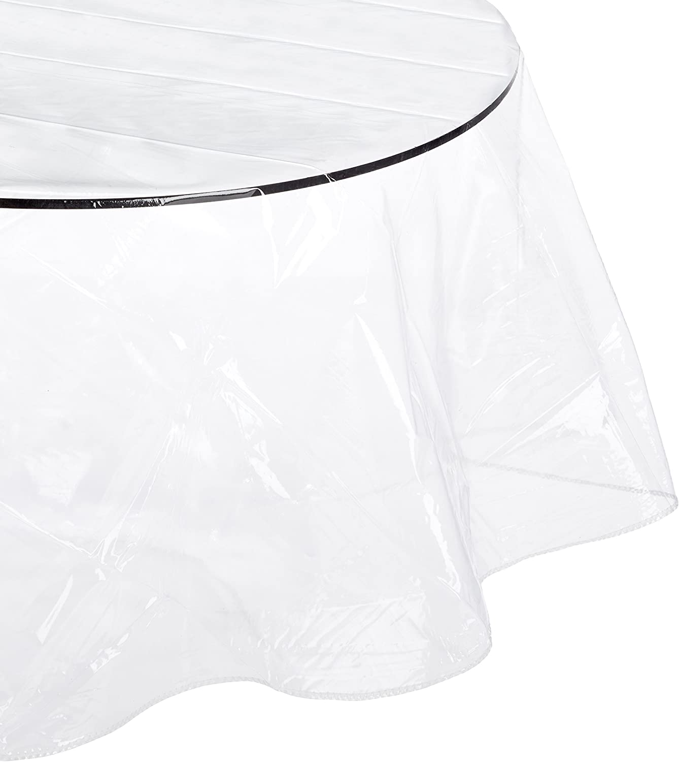 Carnation Home Oval-Shaped 60\/'\/' x 108\/'\/' Vinyl Tablecloth Protector