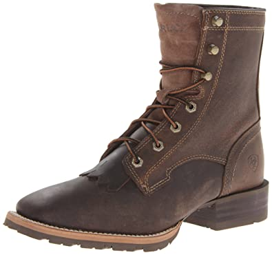 Ariat Men's Hybrid Lacer Western Cowboy Boot, Distressed Brown, ...