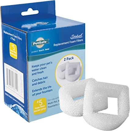 PetSafe Drinkwell Replacement Foam Filter for Dog and Cat Water Fountains 2 Pack 2-Pack /…