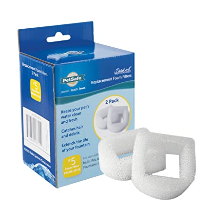 Cat Supplies 2019 New Style Petsafe Drinkwell Replacement Foam Filter 2 Pack