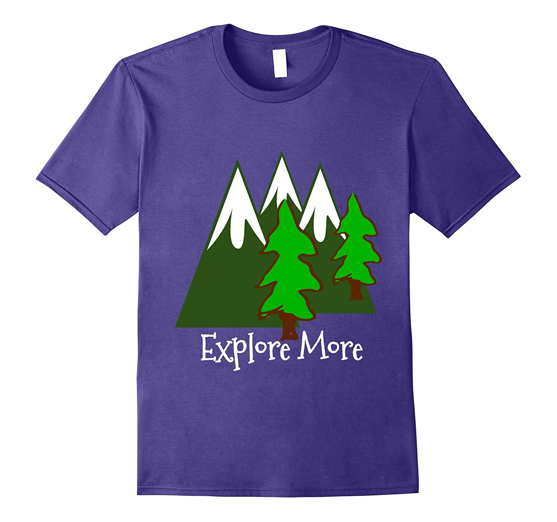 Explore More Snow Mountains Pine Trees Trending Shirt-FL