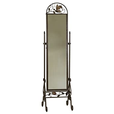 Welcome Home Accents Metal Floor Standing Cheval Mirror