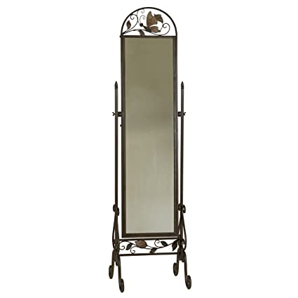 Amazon.com: Welcome Home Accents Metal Floor Standing Cheval Mirror ...