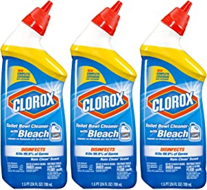 Clorox Toilet Bowl Cleaner, Rain Clean, 24 oz-3 pk