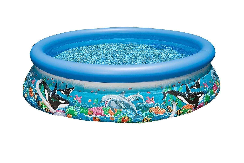 Intex Easy Set Aufstellpool Ocean Reef mit Pumpe,  mehrfarbig, Ø 366 x 76 cm