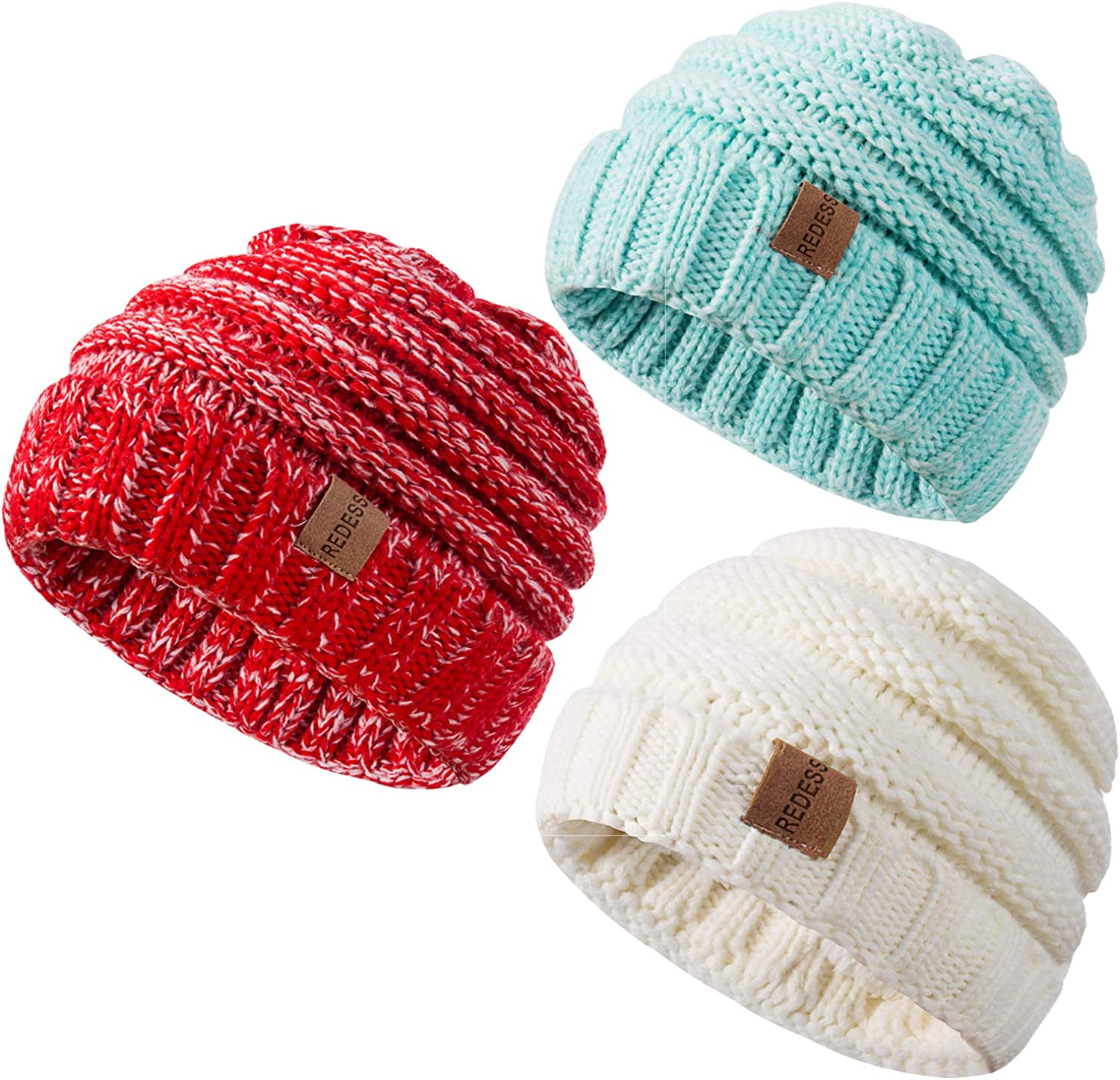 NICE CAPS Boys Toddler Baby Wrap Around Hat and Mitten Winter Snow Headwear Set